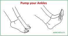 Knee replacement rehab - Pump your ankles
