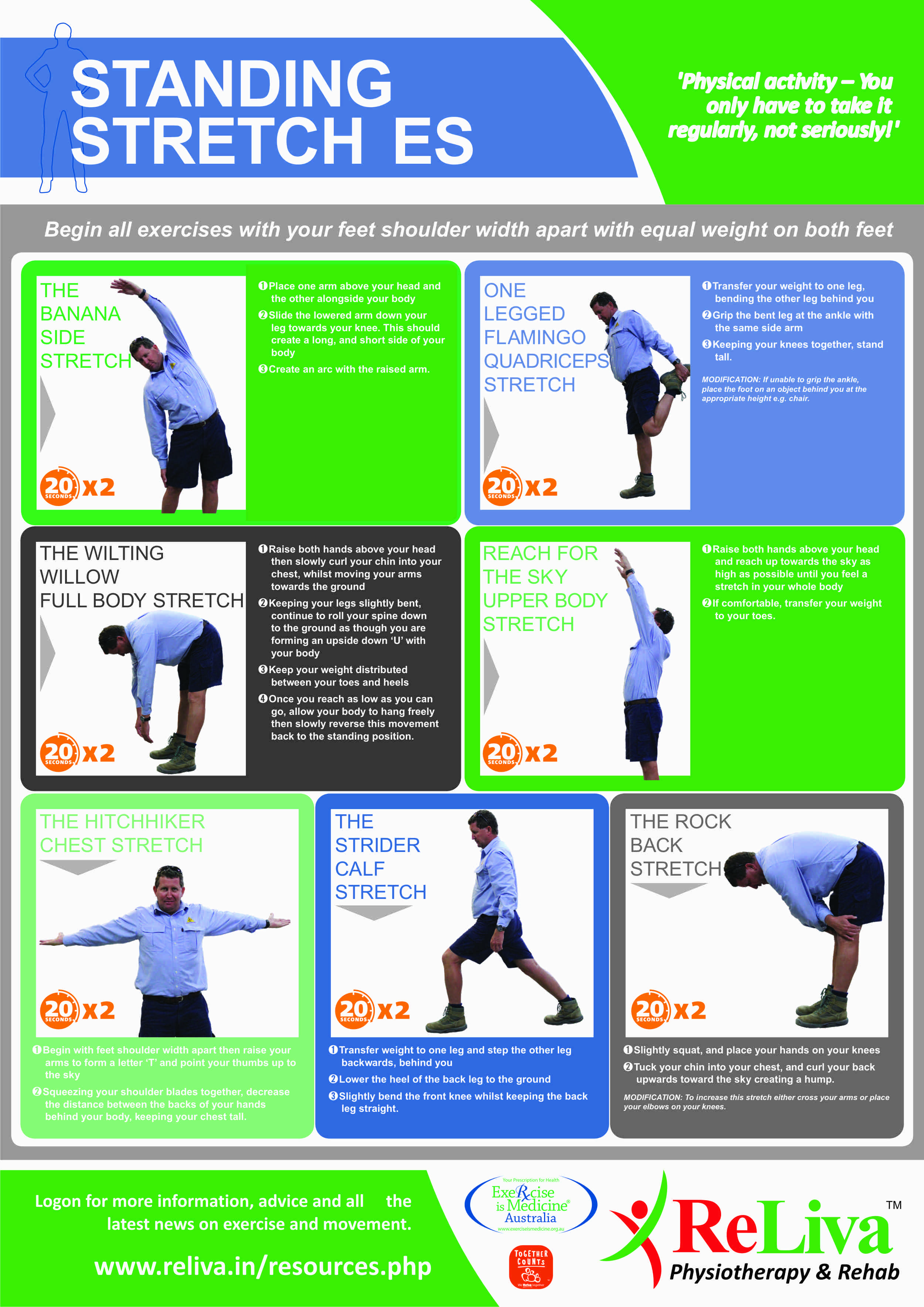 Reliva Stretching Exercises for back pain and neck pain in ...