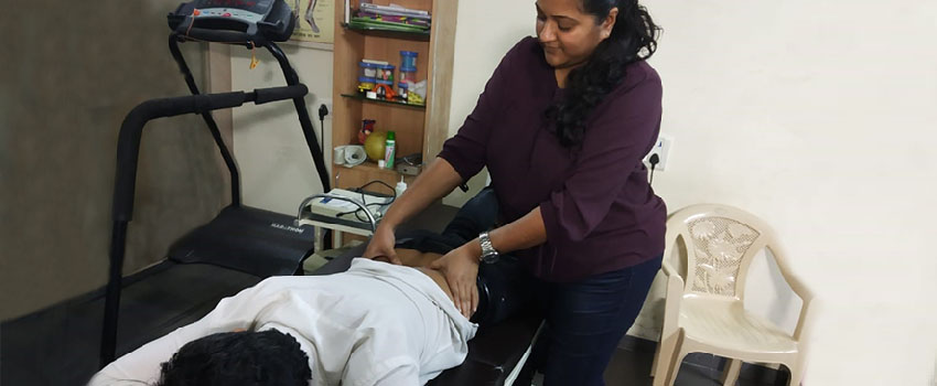 physiotherapist at work